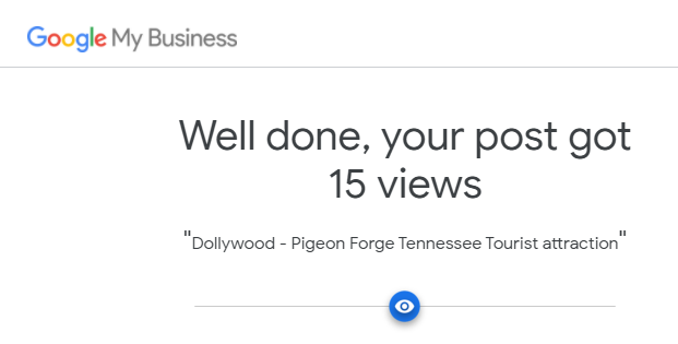 Google My Business Posts by the Vacation Rental Brand